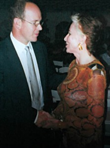 Dr. Richarda Russ with Prince Albert of Monaco
